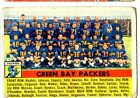 1X GREEN BAY PACKERS 1956 Topps NFL #7 GVG Team card