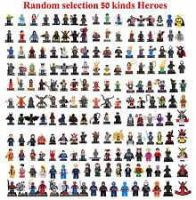 Lot of Random 50 PCS Super Heroes minifigures building block toy NW in bags