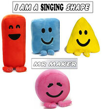 "Official CBeebies Mister Maker KIDS Large 6"" Soft Toy Shapes with Sound & Songs"