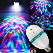 Sound Activated Multi Color LED E27 Rotating Bulb for Stage Disco Xmas DJ Bar