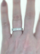VS1 Diamond Anniversary Ring 1.00ct Baguette 18k White Gold Band