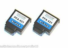 2x Tintenpatrone für Philips PFA 431 schwarz kompatibel