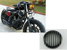 BLACK ALUMINUM HEADLIGHT GRILL COVER FOR HARLEY 2004-2014 SPORTSTER XL 883 1200