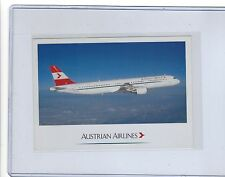 Austrian Airlines issued Airbus A321 cont/l postcard