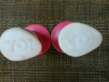 Schwinn pro yo nos grips old freestyle vintage bmx pink white bicycle hand grip