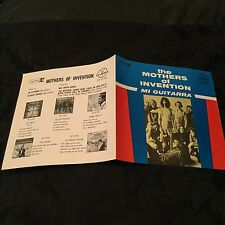 "MINT ULTRA RARE 1969 MEXICO 7"" Mi Guitarra MOTHERS OF INVENTION Frank Zappa"