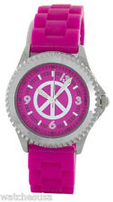 Lucky Brand Stainless Steel Case Pink Dial Rubber Band Women's Watch