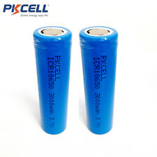 2X 3.7V 3000mAh Flat Top Li-ion 18650 Vape Mod& Torch Rechargeable Battery