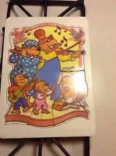 Vintage Fisher Price Berenstain Bears Wooden Puzzle #538 Family Band VGC RARE