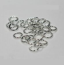 18 Ga Silver Plated / Brass Jump Ring(6 MM O/D) Pkg. Of 200 By  Copper Wire USA