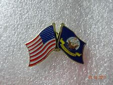 United States Navy flag  /  American flag on the side  Lapel pin New!!