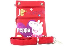 Peppa Pig Authentic Licensed Small Multi Purpose Shoulder ID Holder Bag-RED