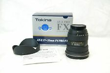 Tokina AT-X PRO 17-35mm f/4 SD FX Aspherical Lens for Nikon Excellent CondItion