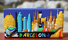 TOURIST SOUVENIR Rubber FRIDGE MAGNET ---- Barcelona , Spain