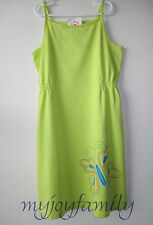HANNA ANDERSSON Equator Sundress Dress Key Lime Butterfly 150 12 NWT