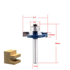 1 piece T type 1/4*1/4 wood working tools trimming router bits milling cutter