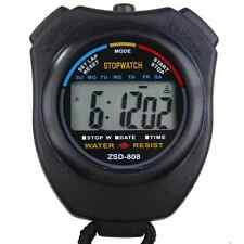 DIGITAL HANDHELD SPORTS STOPWATCH STOP WATCH CLOCK TIMER ALARM COUNTER ☀️UK☂️