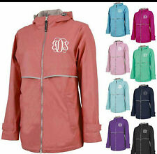 CHARLES RIVER WOMENS RAINCOAT W FREE MONOGRAM-RAIN JACKET COAT- Priority ships
