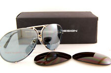 New Porsche Design Sunglasses P8478 8478 A Gold Interchangeable Lenses Uni SZ 69