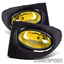 Fits 02-05 Honda Civic Si Hatchback EP3 JDM Yellow Fog Light Bumper Driving Lamp