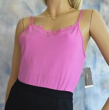 NWT Pink Seamless Knit Cami Top Sz XL Lace Spaghetti Straps Control Stretch