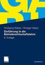 Einführung in die Betriebswirtschaftslehre von Weber 9783834919946 gebraucht