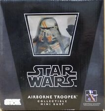 Star Wars AIRBORNE TROOPER UTAPAU Gentle Giant MINI BUST Statue CLONE ORANGE