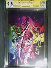 CGC 9.8 SS Mighty Morphin Power Rangers #1 Signed Jason David Frank! Fish Cover!