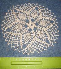 Lovely VINTAGE 22 cm HAND MADE Crochet Doily in Beige