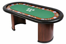 Riverboat Pro Poker Table with Arc Legs in Suited Speed Cloth 213cm x 106cm