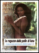 LA RAGAZZA DALLA PELLE DI LUNA MANIFESTO FILM ZEUDI ARAYA 1972 MOVIE POSTER  2F