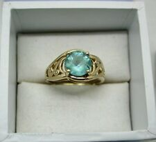 A very nice 9ct Gold Green Quartz And Diamond Ring
