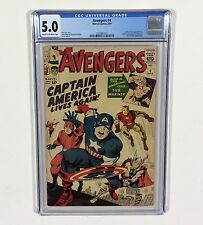 Avengers #4 CGC 5.0 KEY (1st Captain America S.A.) Mar.1964 Marvel Comics