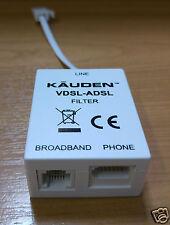 VDSL Adsl Micro Filtro Microfiltro de banda ancha teléfono teléfono Divisor Bt Socket