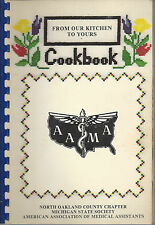 *HIGHLAND MI 1983 NORTH OAKLAND COUNTY MEDICAL ASSISTANTS COOK BOOK *MICHIGAN