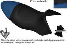 BLACK & ROYAL BLUE CUSTOM FITS BUELL XB9S LIGHTNING 04-09 DUAL SEAT COVER