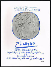 "1960's Vintage Pablo Picasso Pates Blanches Galerie 65 ""1957"" Poster Art Print"