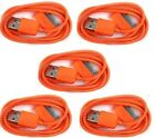 5x Orange USB Sync Data Charging Charger Cable for Apple iPhone 4 4S 4G 4th Gen