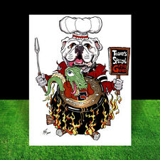 New GEORGIA BULLDOGS artist auto. signed POSTER ART, uga football, athens, dawgs