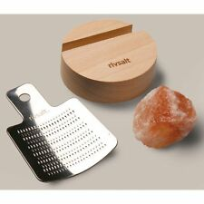 Rivsalt Pink Himalayan Sea Salt Set With Stainless-Steel Grater RS01 kikkerland