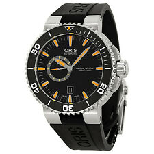 Oris Divers Small Seconds Automatic Black Dial Steel Mens Watch 743-7673-4159RS