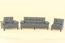 Dollhouse Miniature 3 PC. LIVING ROOM SET COUCH/CHAIRS 2167-GS-SET Bespaq Direct