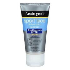 Neutrogena Sport Face Sunscreen Lotion SPF 70+ 2.50oz Each