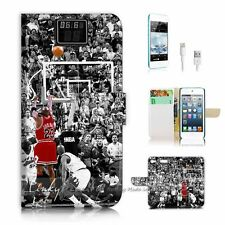 iPod Touch 6 iTouch 6 Flip Wallet Case Cover! P1071 Basketball