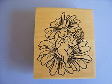 CREATIVE IMAGES RUBBER STAMPS CISTAMPS FLOWER FAIRY STAMP