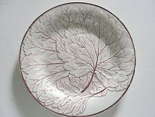 """Antique early Wedgwood red leaf 8"""" creamware plate"""