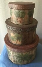 3  Tropical Decorative Stackable Storage Boxes