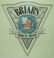 Orig Briar's Birch Beer Advertising Sign old fashioned soft drinks soda rootbeer