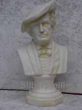 Wunderschöne Wagner Büste Kopf Dekoration Stuckgips Skulptur Möbel Deko Crem