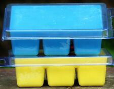 6pk 100hr BLUE SUGAR type Triple Scented PURE ORGANIC SOY WAX CLAM MELTS gifts